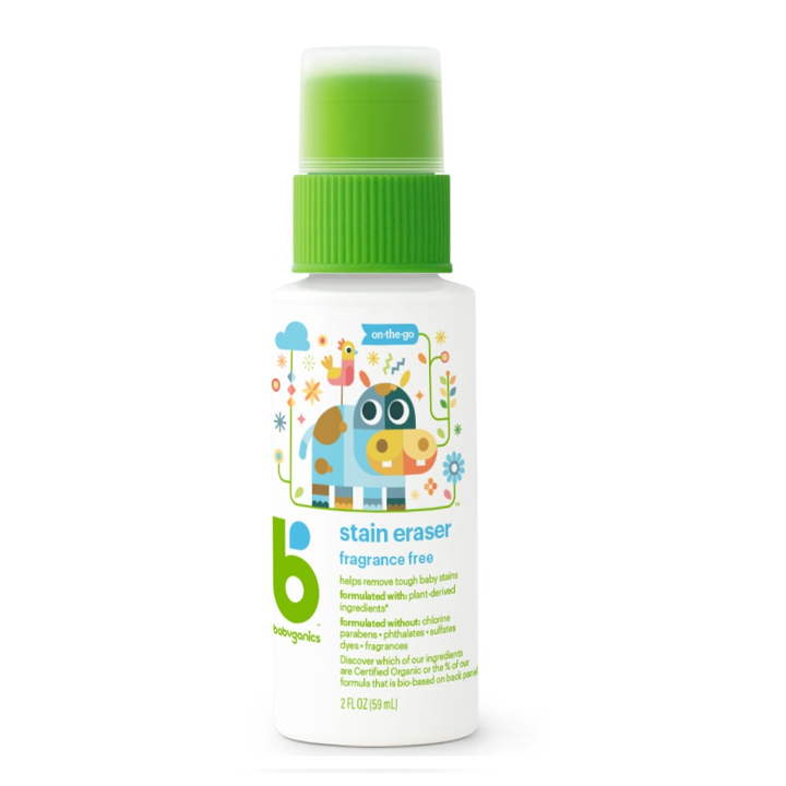 BabyGanics, Stain Eraser, On-The-Go, Fragrance Free, 2 fl oz (59 ml)
