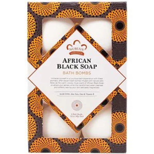 Nubian Heritage, Bath Bombs - African Black Soap (6 Count)