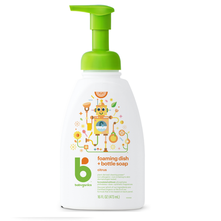 BabyGanics, Foaming Dish + Bottle Soap, Citrus, 16 fl oz (473 ml)