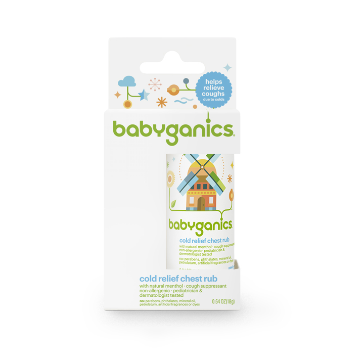 BabyGanics, Cold Relief Chest Rub, 0.64 oz (18 g)