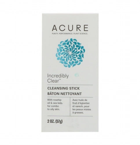 Acure, Incredibly Clear Cleansing Stick, 2 oz (57 g)