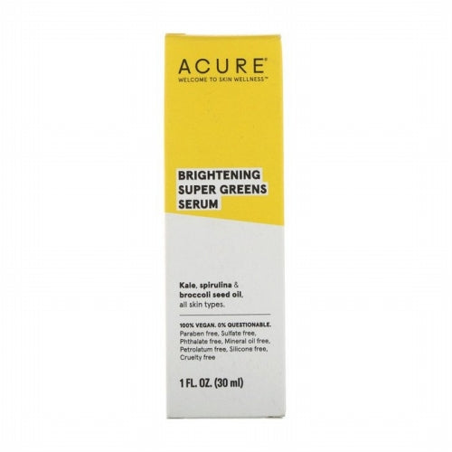 Acure, Brightening, Super Greens Serum, 1 fl oz (30 ml)