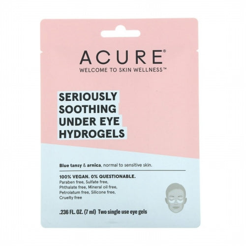 Acure, Seriously Soothing Under Eye Hydrogels, Two Single Use Eye Gels, 0.236 fl oz (7 ml)