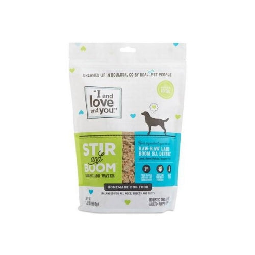 I and Love and You Raw Raw Lamb Boom Ba Dinner, Grain Free Dehydrated Dog Food 1.5 lb bag