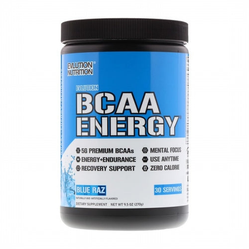 EVLUTION NUTRITION, BCAA Energy, Blue Raz, 10.58 oz (300 g)