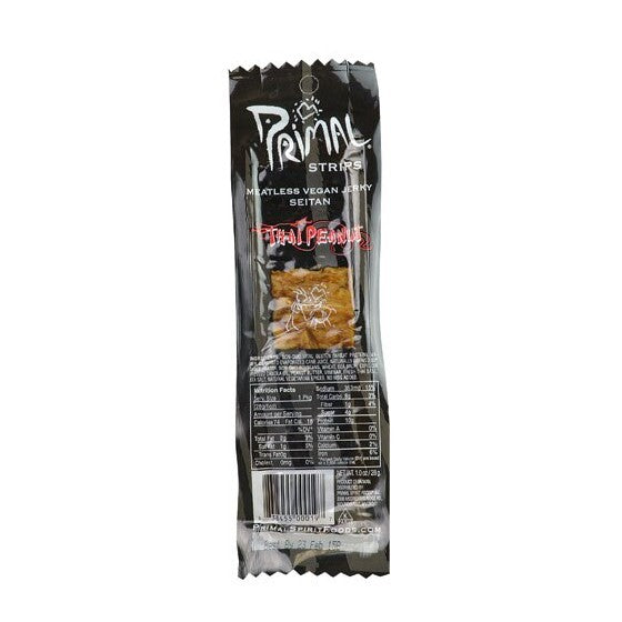 Primal Spirit Foods Primal Strips Meatless Vegan Jerky Thai Peanut  1 oz