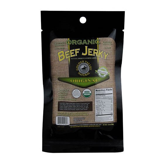 Golden Valley Natural Organic Beef Jerky Original  1 oz