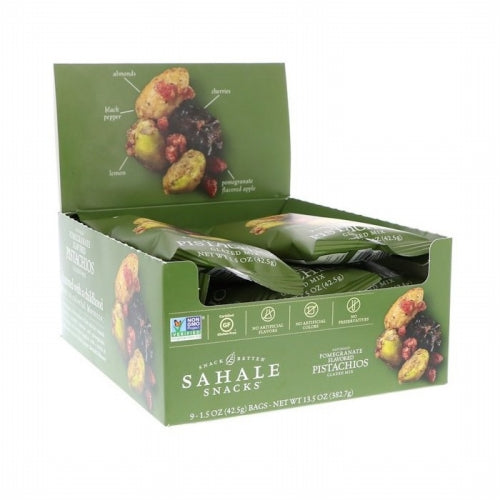 Sahale Snacks, Glazed Mix, Naturally Pomegranate Flavored Pistachios, 9 Packs, 1.5 oz (42.5 g) Each