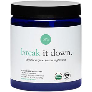 Ora Organic Break it Down - Organic Digestive Enzymes Powder - Pineapple (30 Servings)