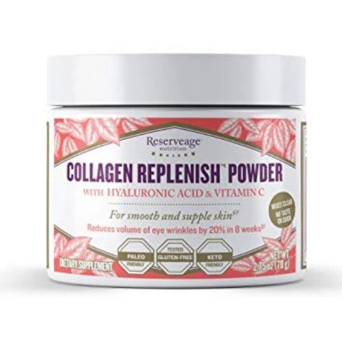 Reserveage Nutrition Collagen Replenish with Hyaluronic Acid & Vitamin C – 2.75 oz