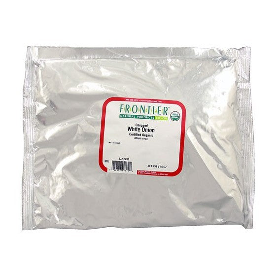 Frontier Natural Products Organic Onion White Chopped  1 lb