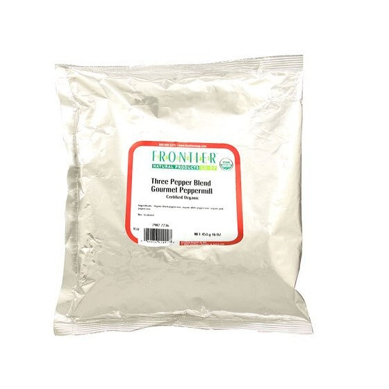 Frontier Natural Products Organic Three Pepper Blend  1 lb