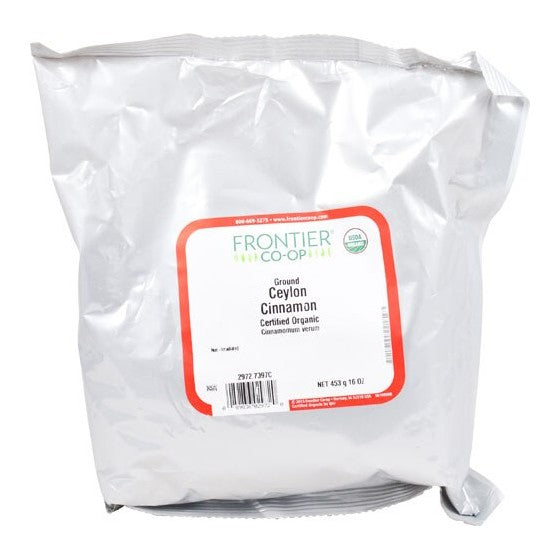 Frontier Natural Products Organic Ground Ceylon Cinnamon  16 oz