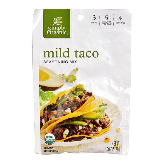 Simply Organic Mild Taco Seasoning Mix  1 oz