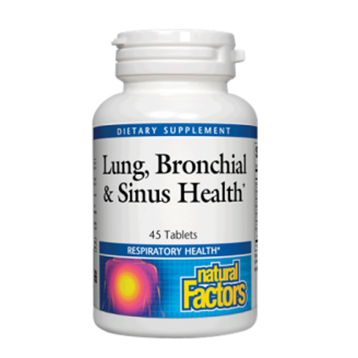 Natural Factors, Lung, Bronchial & Sinus Health, 45 Tablets