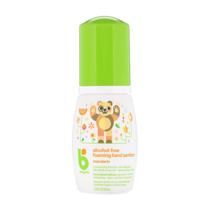BabyGanics, Alcohol-Free, Foaming Hand Sanitizer, Mandarin, 1.69 oz (50ml)
