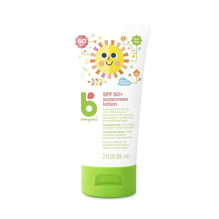 BabyGanics, Mineral Based Sunscreen Lotion, SPF 50+, 2 oz (59ml)