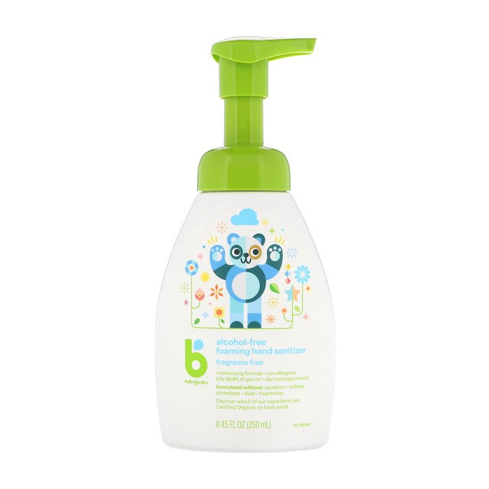 BabyGanics, Alcohol-Free, Foaming Hand Sanitizer, Fragrance Free, 8.45 fl oz (250ml)