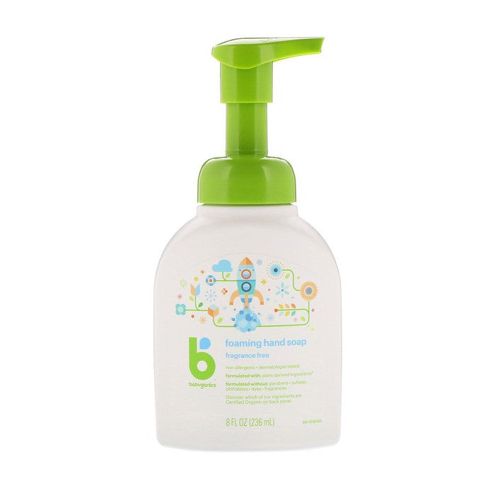 BabyGanics, Foaming Hand Soap, Fragrance Free, 8 fl oz (236ml)
