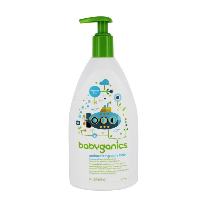 BabyGanics, Moisturizing Daily Lotion, Fragrance Free, 17 fl oz (502ml)