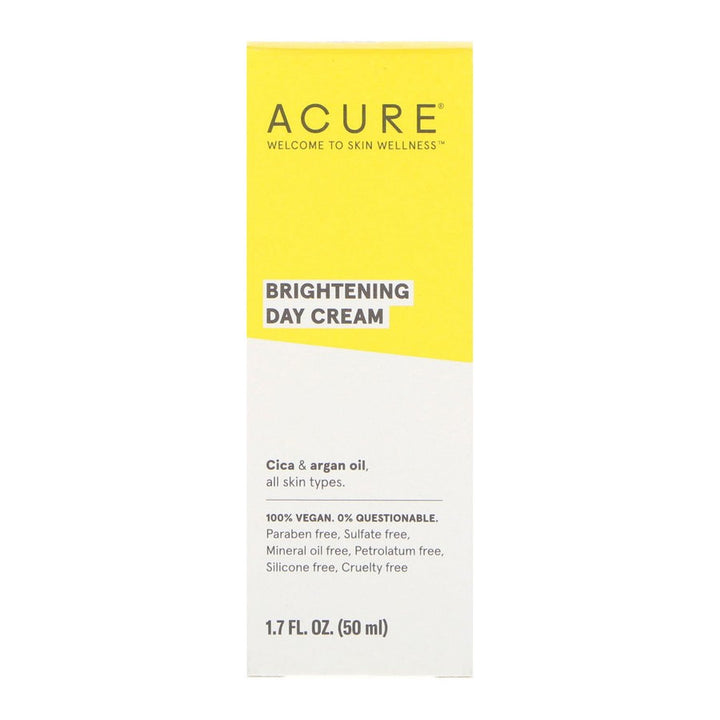 Acure, Brightening Day Cream, All Skin Types, 1.7 floz (50ml)