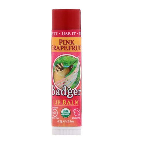 Badger Company, Organic, Lip Balm, Pink Grapefruit, .15 oz (4.2g)