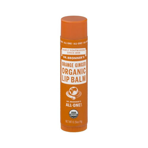 Dr.Bronner's, Organic Lip Balm, Orange Ginger, 0.15 oz (4g)