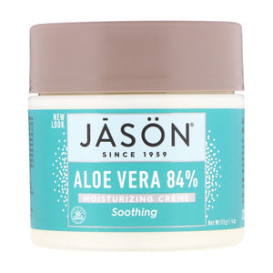 Jason Natural, Aloe Vera 84% Moisturizing Creme, Soothing, 4 oz (113g)