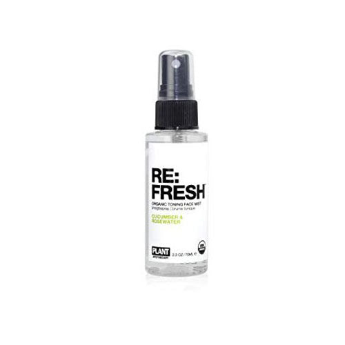 PLANT Apothecary, RE: FRESH Organic Toning Face Mist, CUCUMBER & ROSEWATER, 2.3 oz (70ml)