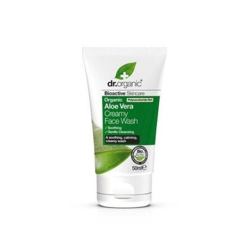 Dr Organic Aloe Vera Creamy Face Wash Travel Mini 50ml