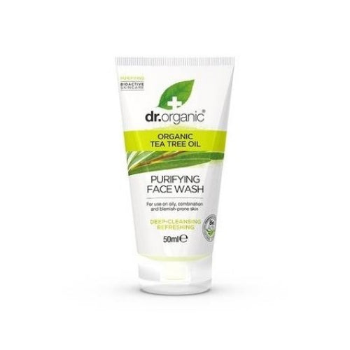 Dr Organic Tea Tree Purifying Face Wash Mini 50ml