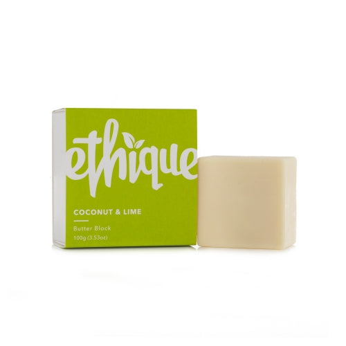 Ethique, Coconut & Lime Butter Block, 3.53 oz (100 g)