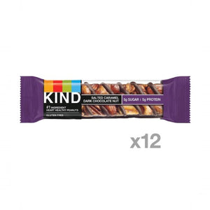KIND Bars, Nuts & Spices, Salted Caramel & Dark Chocolate Nut, 12 Bars, 1.4 oz (40 g) Each