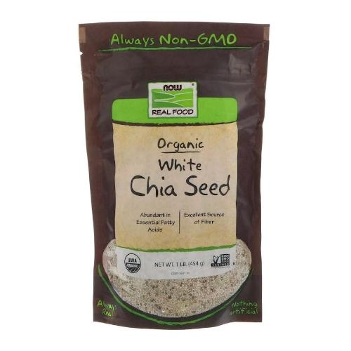 Now Foods, Real Food, Organic White Chia Seed, 1 lb (454g)