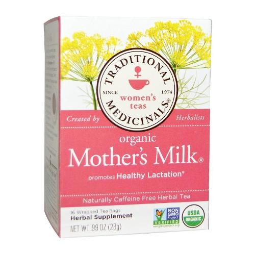 Traditional Medicinals, Women's Teas, Organic Mother's Milk, Naturally Caffeine Free Herbal Tea, 16 Wrapped Tea Bags
