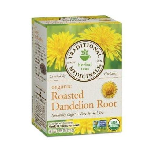 Traditional Medicinals, Organic Roasted Dandelion Root Herbal Tea, 16 Tea Bags, 0.85 OZ(24g)