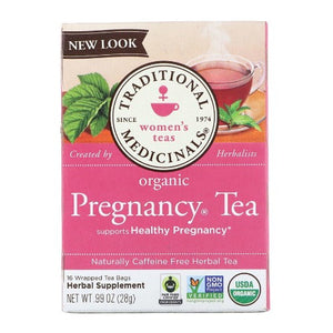 Traditional Medicinals, Women's Tea, Organic Pregnancy Tea, Caffeine Free, 16 Wrapped Tea Bags, .99 oz (28g)