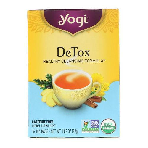 Yogi, DeTox, Healthy Cleansing Formula, 16 Tea Bags, 1.02 OZ(29g)