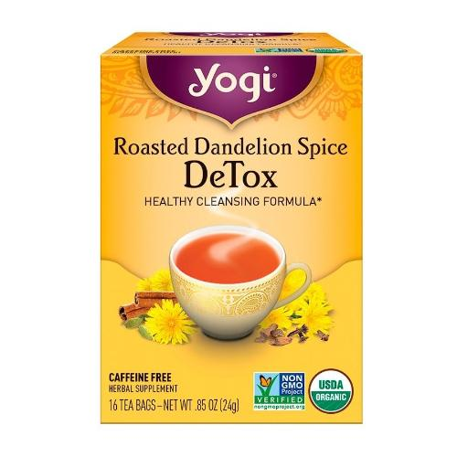 Yogi, Roasted Dandelion Spice DeTox, Healthy Cleansing Formula, 16 Tea Bags, 0.85 OZ(24g)