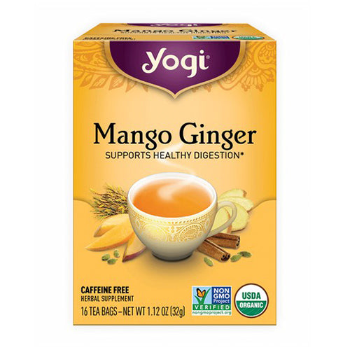 Yogi, Mango Ginger Tea, SUPPORTS HEALTHY DIGESTION, 16 Tea Bags, 1.12 OZ(32g)