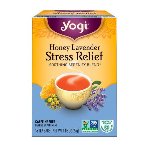 Yogi, Honey Lavender Stress Relief, SOOTHING SERENITY BLEND, 16 Tea Bags, 1.02 OZ(29g)