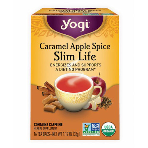 Yogi, Caramel Apple Spice, Slim Life Tea ENERGIZES AND SUPPORTS A DIETING PROGRAM, 16 Tea Bags, 1.12 OZ(32g)