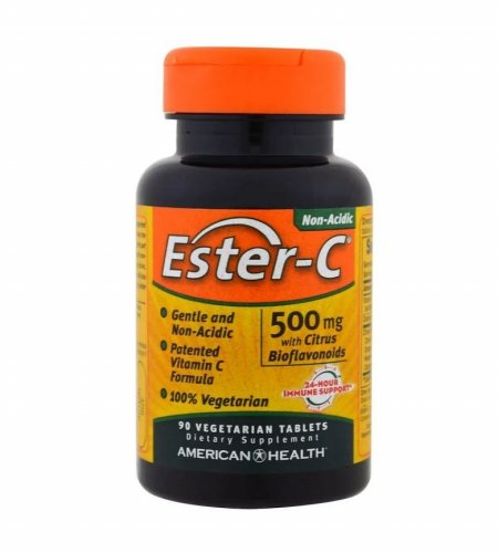American Health, Ester-C, 500 mg, 90 Veggie Tablets