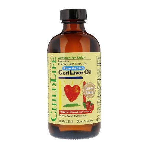 ChildLife, Nutrition For Kids, Pure Arctic, Cod Liver Oil, Natural Strawberry Flavor, 8floz(237ml)