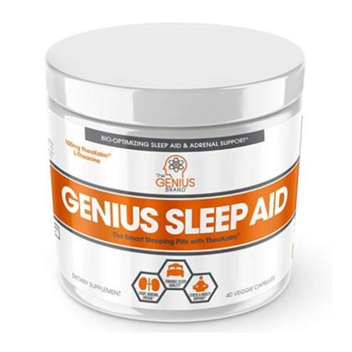 The Genius Brand, Genius Sleep Aid, 40 Veggie Capsules