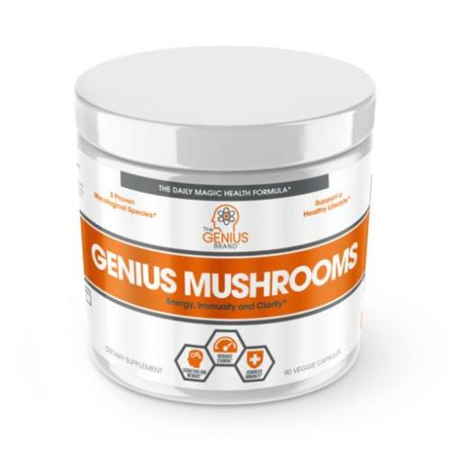 The Genius Brand, Genius Mushrooms, 90 Veggie Capsules