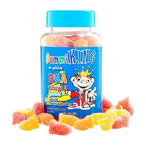 Gummi King, DHA Omega 3 Gummi, Natural Flavors and Colors, For Kids, 60 Gummies