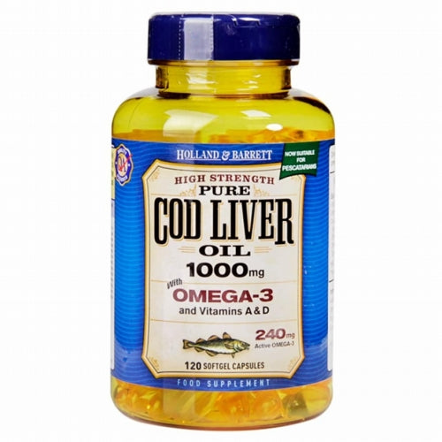 HOLLAND & BARRETT HB COD LIVER OIL 1000MG 120S P