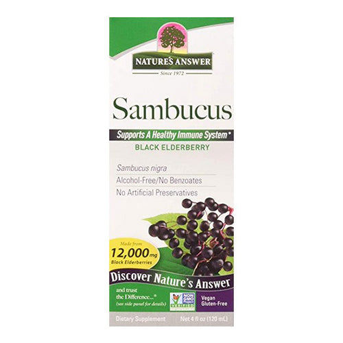 Nature's Answer, Sambucus, Black ElderBerry 12000 mg, 4 floz (120ml)