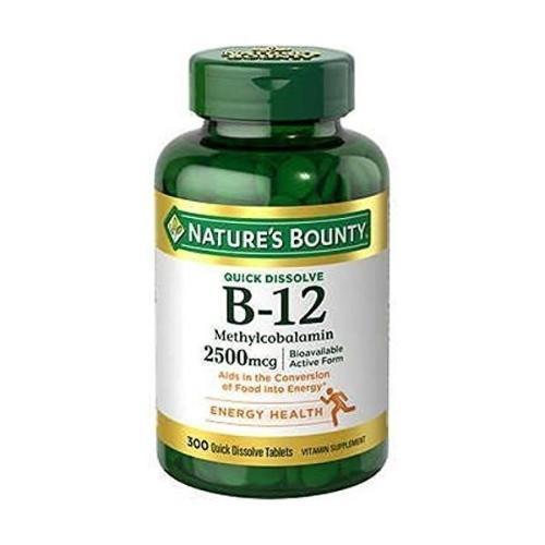Nature's Bounty, B12 2500 mcg, 300 Quick Dissolve Tablets
